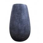 Vase en céramique texture métalisée Grise-101016
