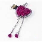 Clé usb Cœur avec rose-101066