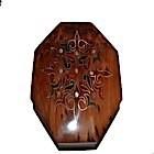 Boite en thuya motifs rouges et verts-104361