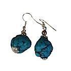 Boucles d'oreilles bleues-104427
