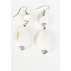 Boucles d'oreilles larmes blanches-104437