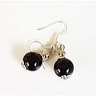 Boucles d'oreilles noires-104425