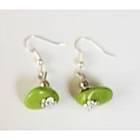 Boucles d'oreilles vertes-104444