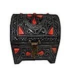 Coffre en métal motifs rouges-104334