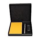 Coffret agenda classique jaune-105559