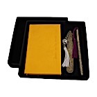 Coffret agenda traditionnel jaune-105556