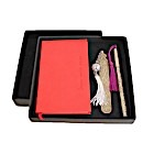 Coffret agenda traditionnel rouge-105555