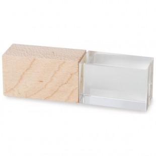 Clé USB Crystal bois-106515