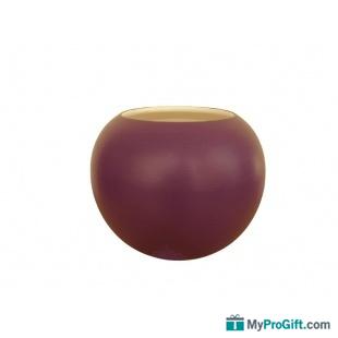Duo Vase boule et Vase arrondi uni violet-101012