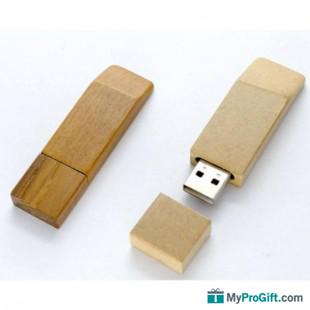 Clé USB trapèze en bois-105676