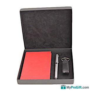 Coffret agenda classique rouge-105558