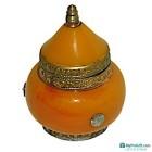 Boite en cuivre et pierre orange-104539