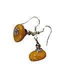 Boucles d'oreilles jaunes-104429