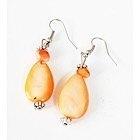 Boucles d'oreilles larmes oranges-104436