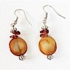 Boucles d'oreilles marrons-104438