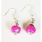 Boucles d'oreilles roses-104426