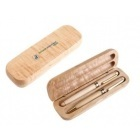 Étui en bois 2 stylos à bille en bois-100079