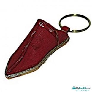 Porte-clés Babouche rouge argent-104484