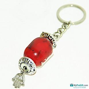 Porte-clés pierre rouge-104533