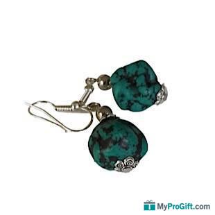 Boucles d'oreilles bleues turquoise-104428