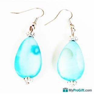 Boucles d'oreilles larmes bleues-104435
