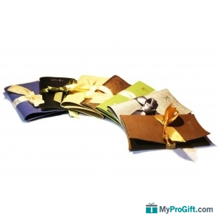 Porte-foulard en cuir véritable-100351